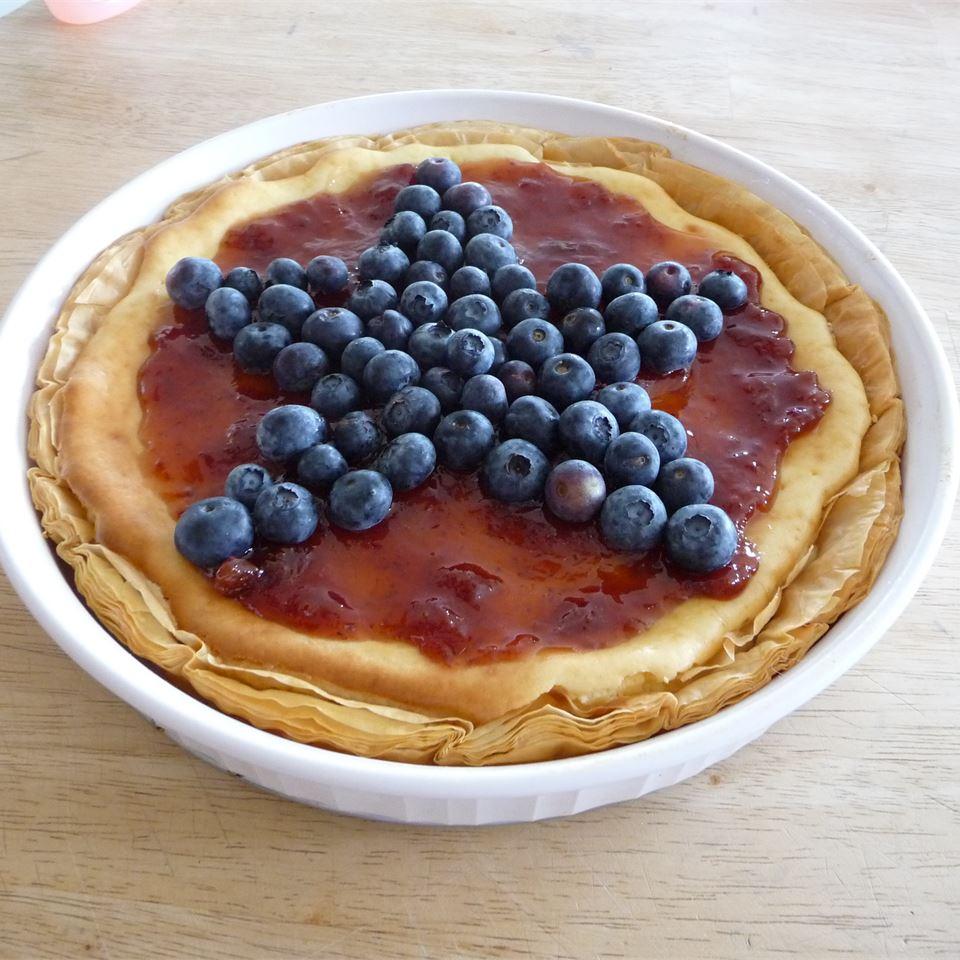 Red, White, and Blueberry Cheesecake Pie JJOHN32