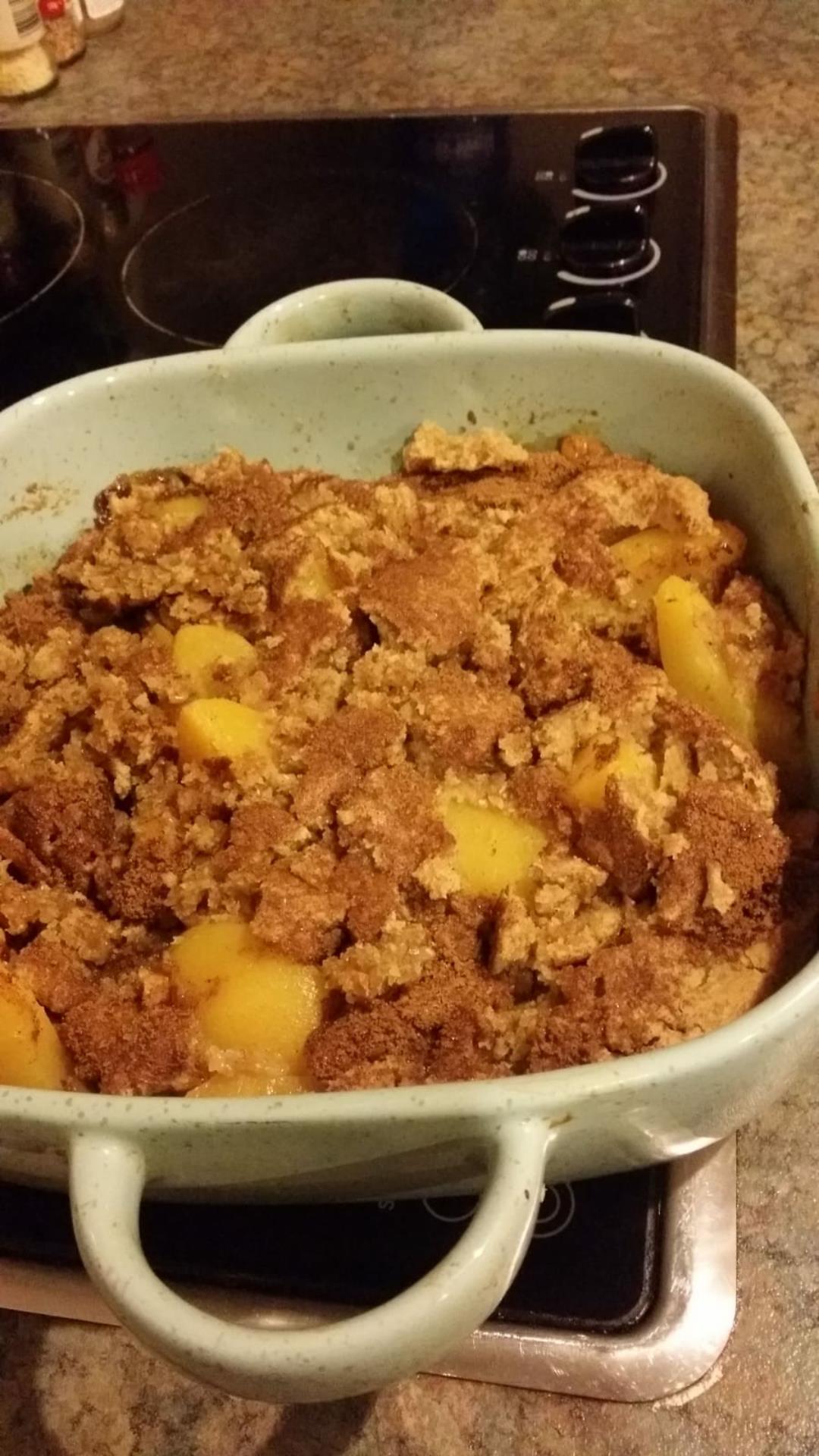 Healthier Southern Peach Cobbler