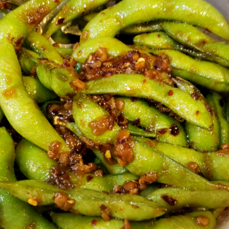 Szechuan Edamame (Soy Beans) Robert & Monica Powell