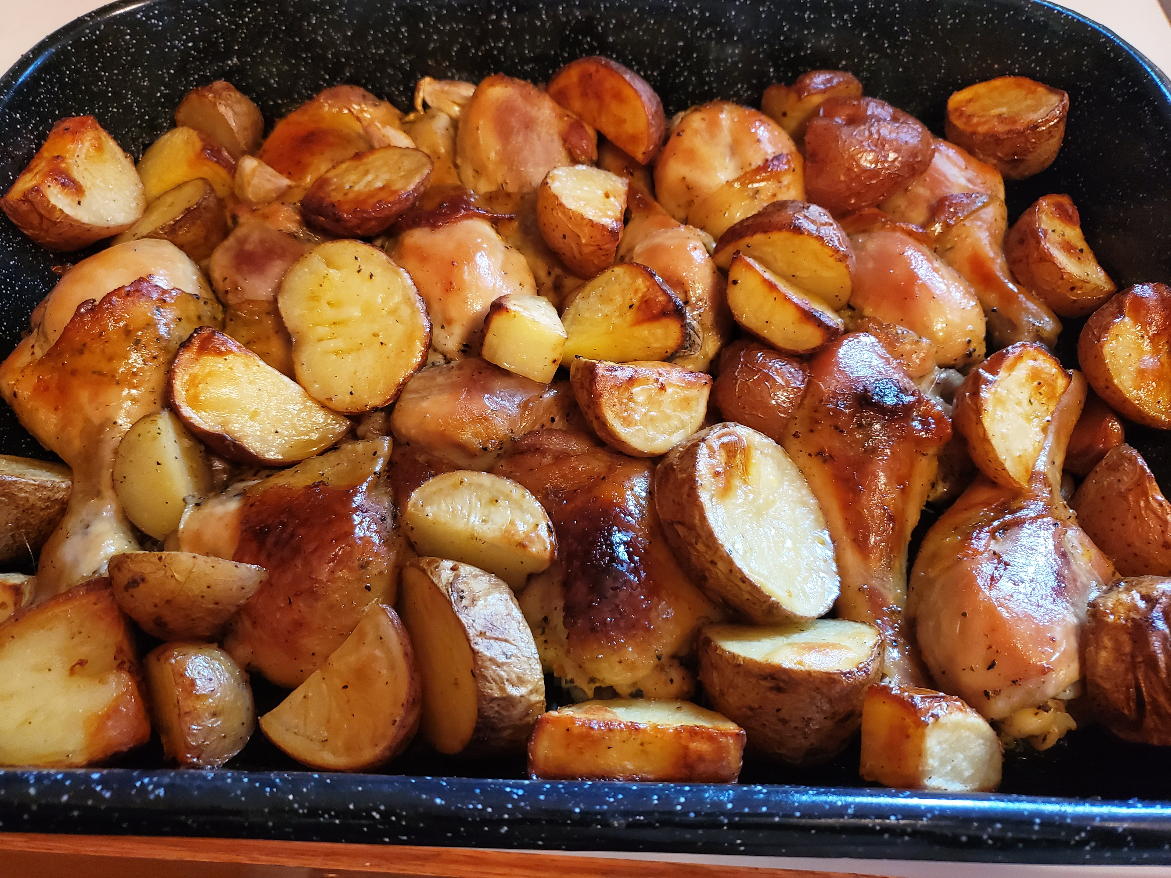 Garlic Roasted Chicken and Potatoes