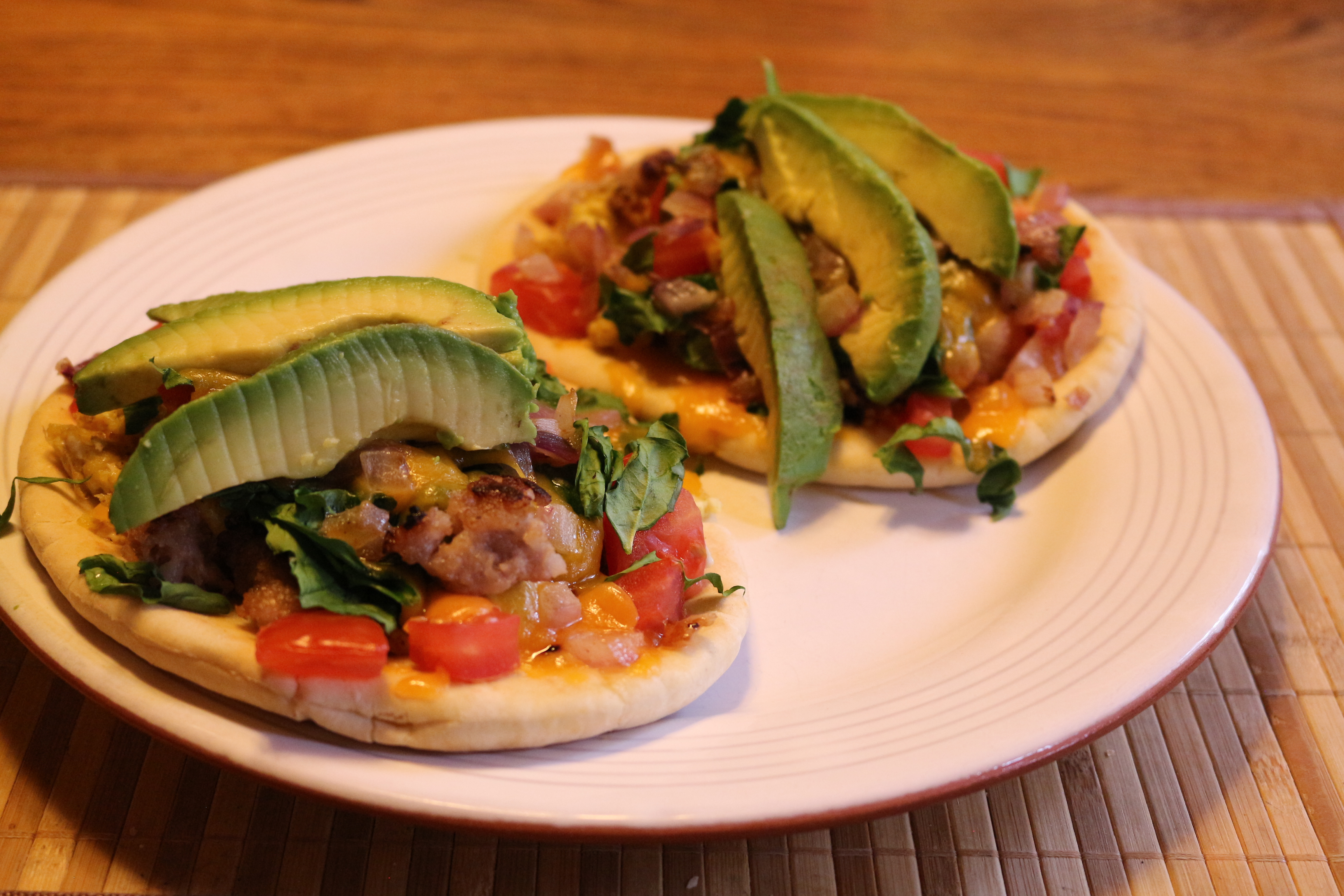 Easy Breakfast Pita Pizzas Cathy Myers