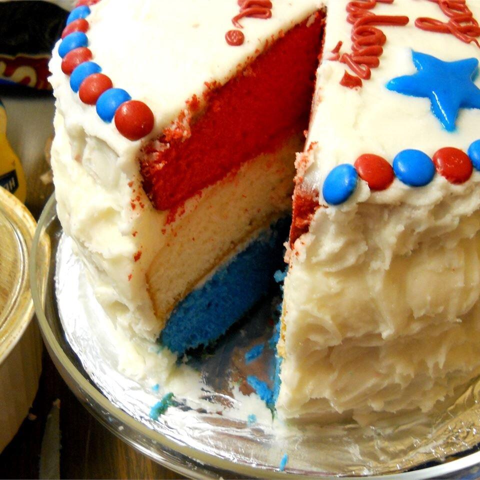 Surprise Inside Independence Cake Recipe   Allrecipes