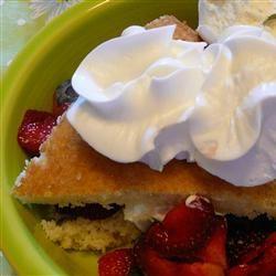 Cottage Pudding (Cake for Strawberry Shortcake)