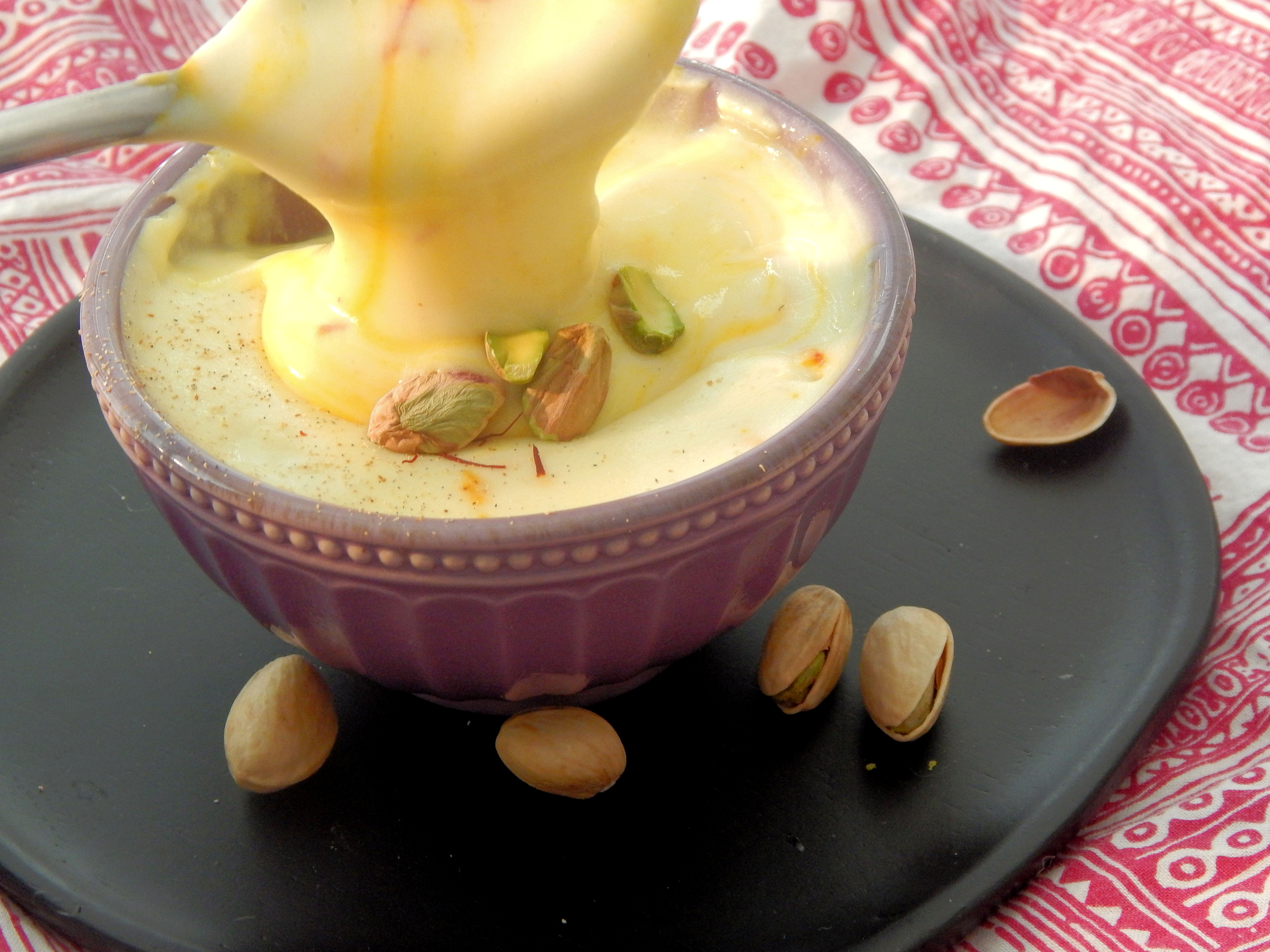 Rice Pudding with Saffron and Cardamom
