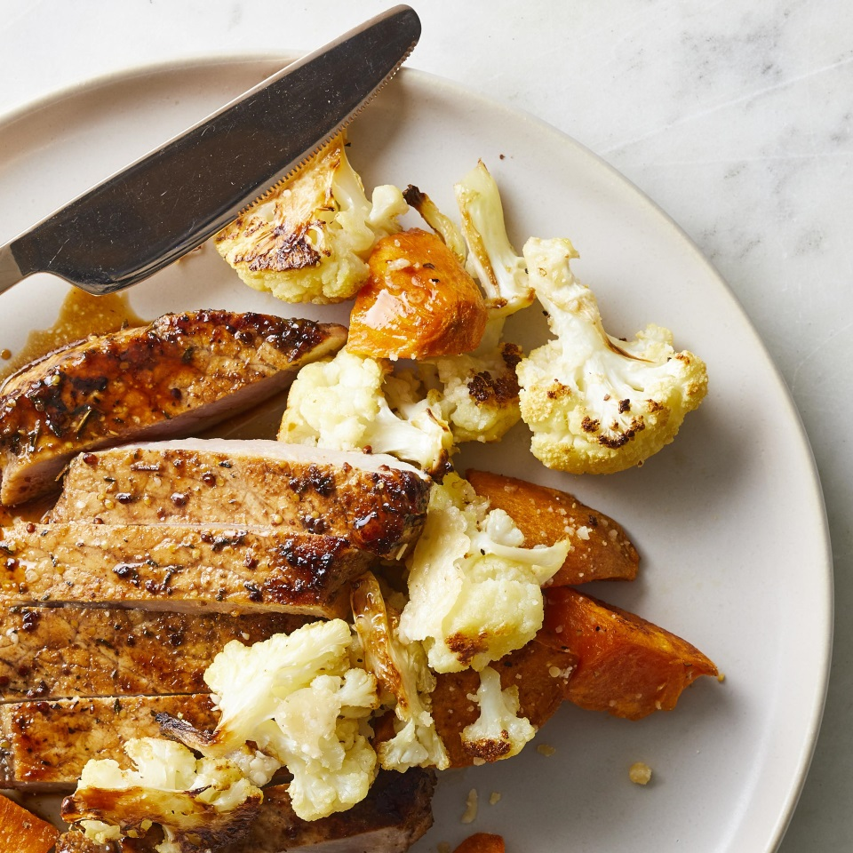 Roasted Sweet Potatoes & Cauliflower Diabetic Living Magazine
