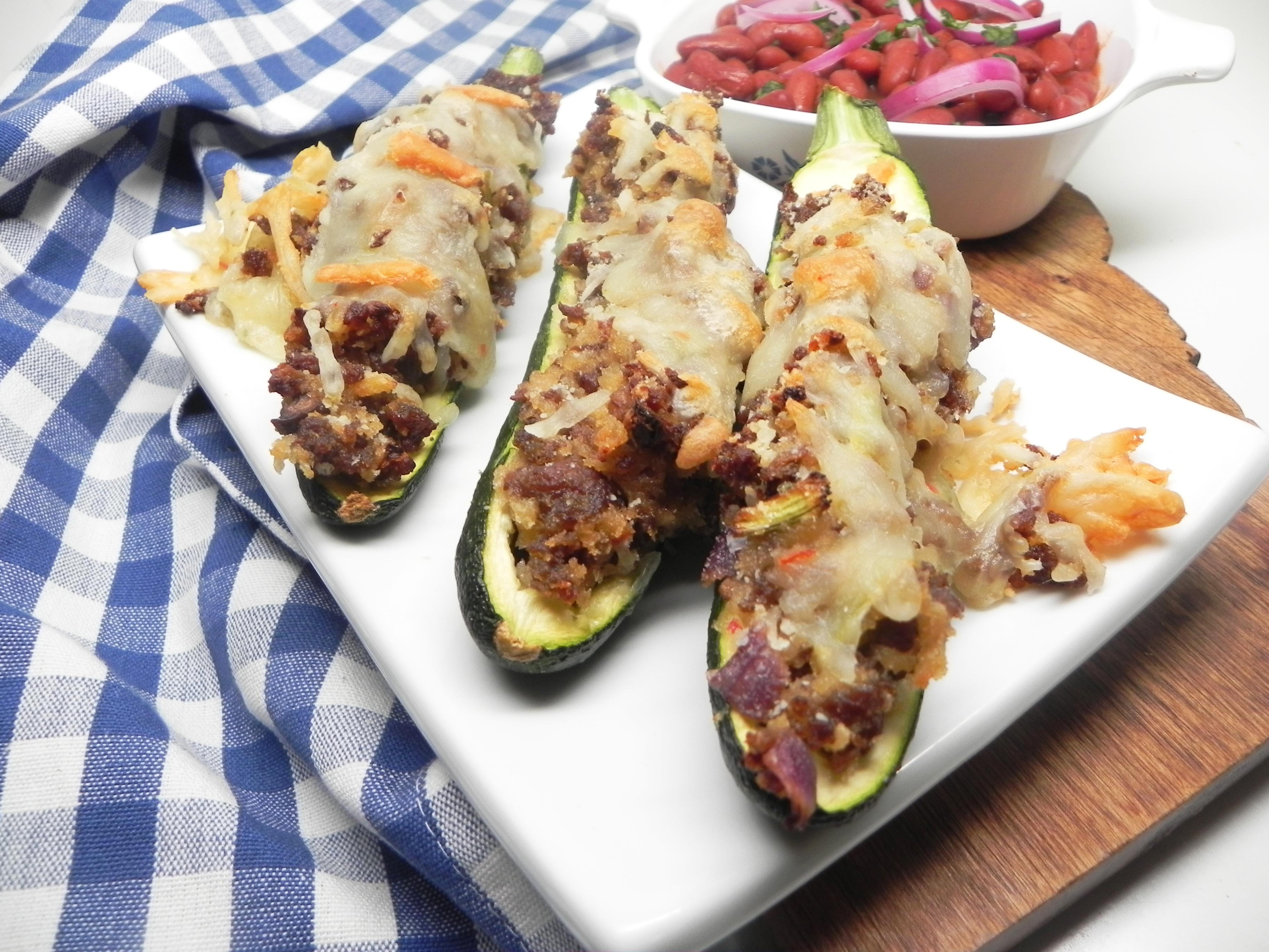 Sausage-Stuffed Zucchini Boats