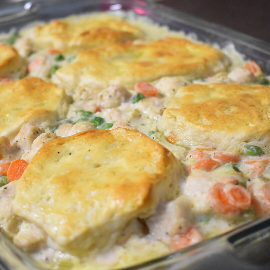 Mom S Fabulous Chicken Pot Pie With Biscuit Crust Recipe Allrecipes