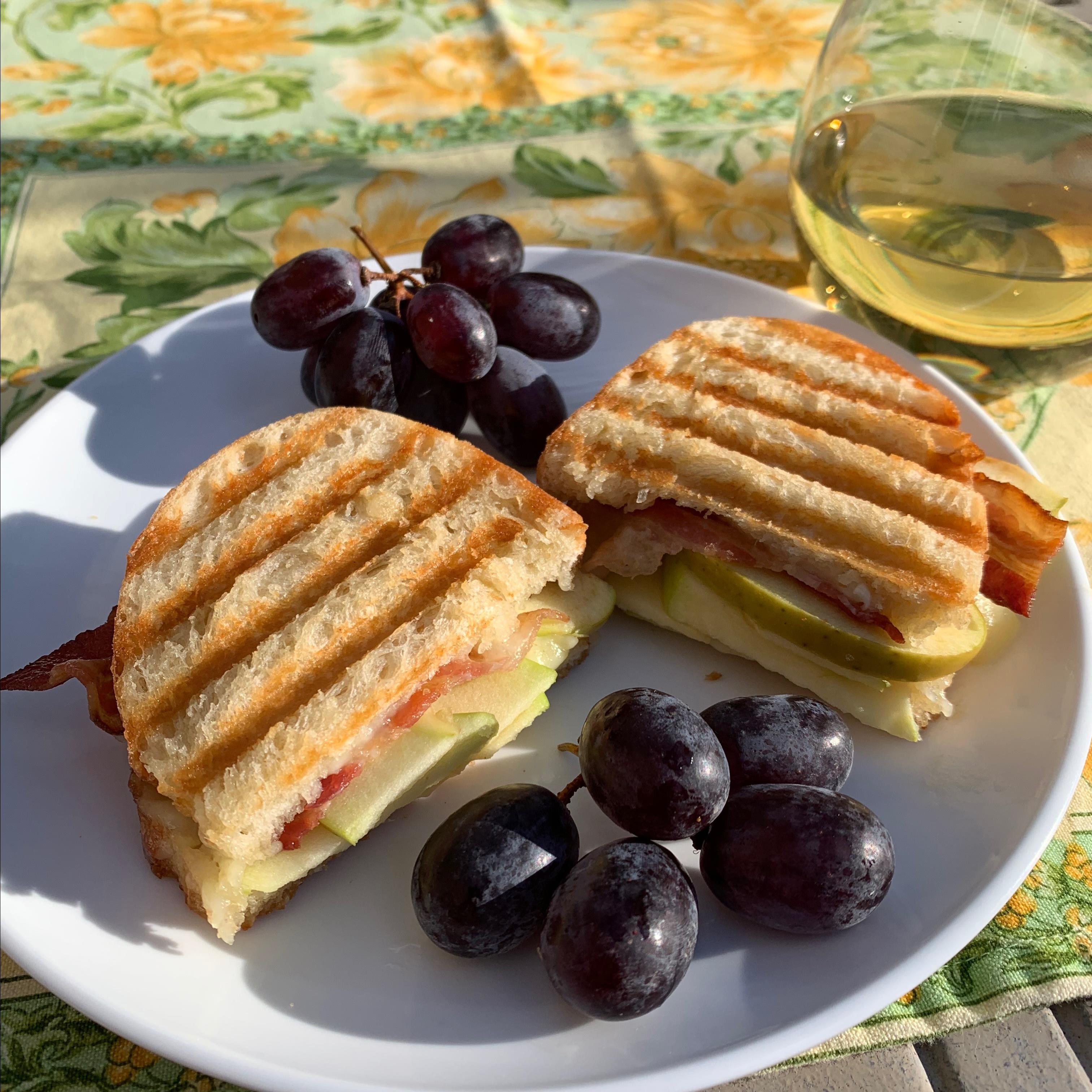 Bacon, Apple and Brie Panini