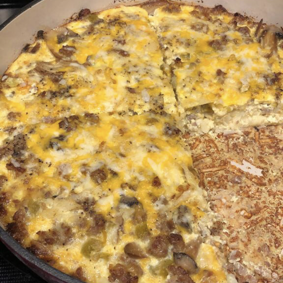 Sausage Hashbrown Breakfast Casserole Michelle Morris