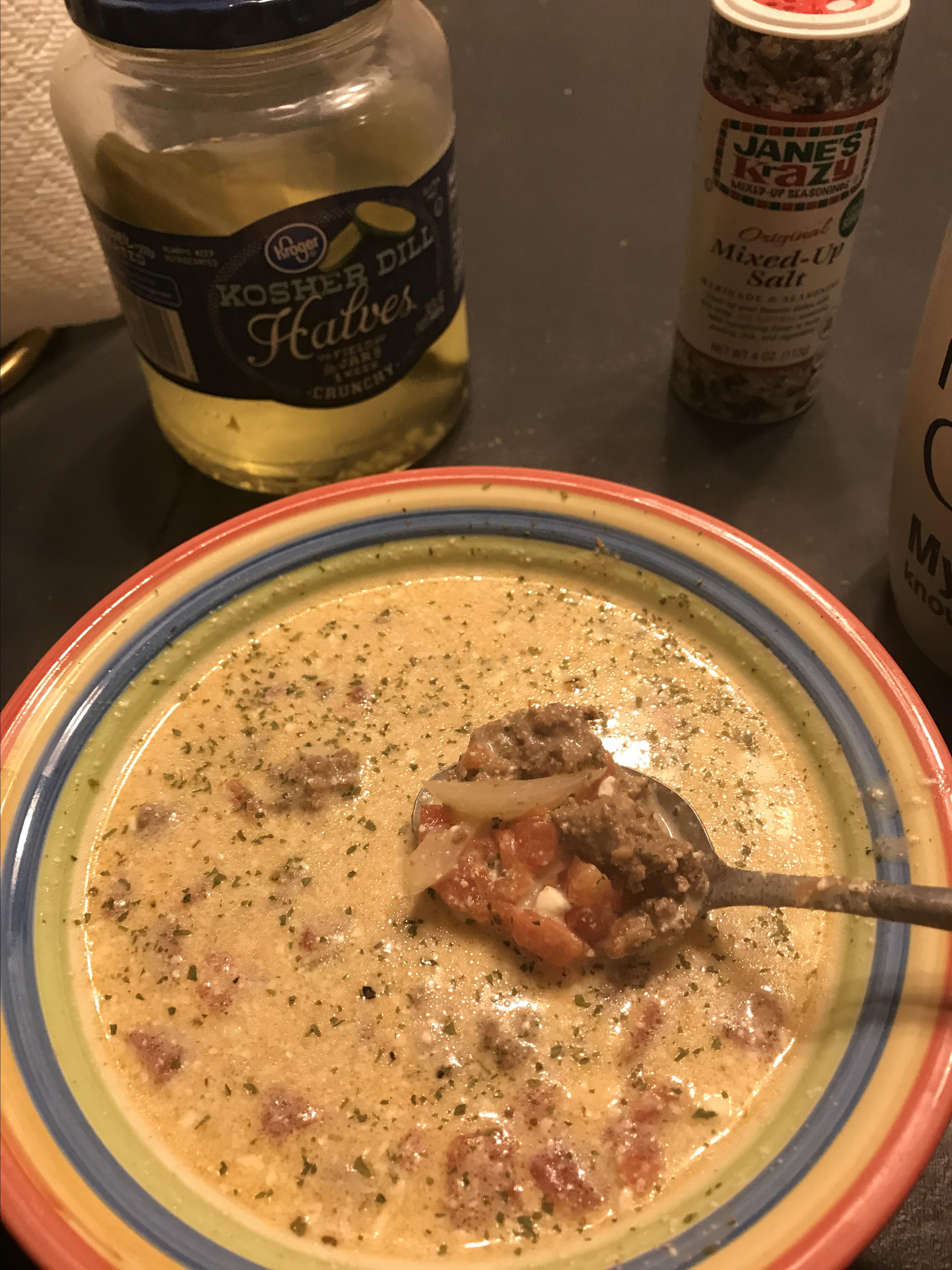 Creamy Keto Taco Soup with Ground Beef Leslie Fay Mitchell