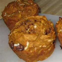 Pumpkin Coconut Muffins with Chocolate Chips ARCTICAMY