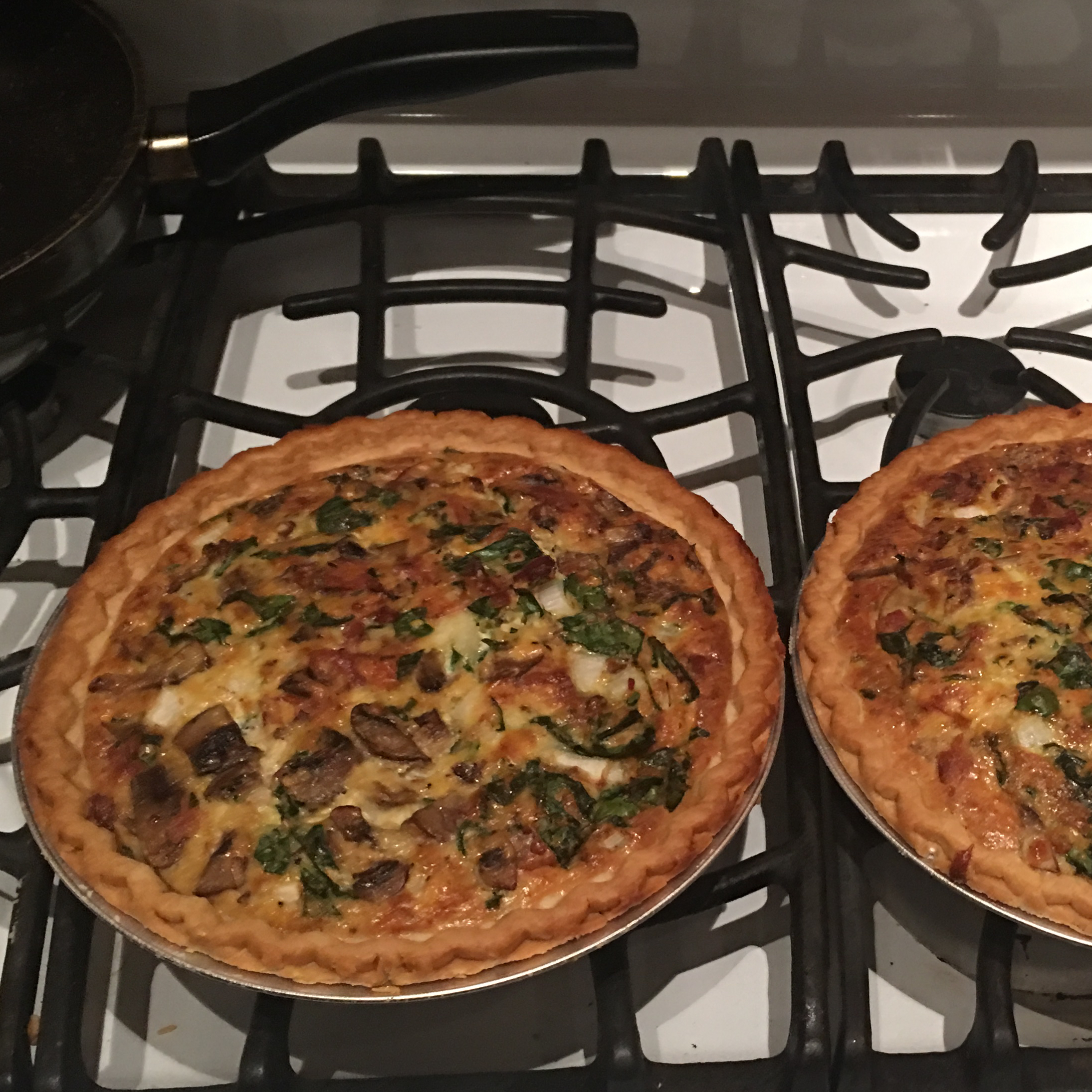 Belle and Chron's Spinach and Mushroom Quiche Rachel Schlingheyde