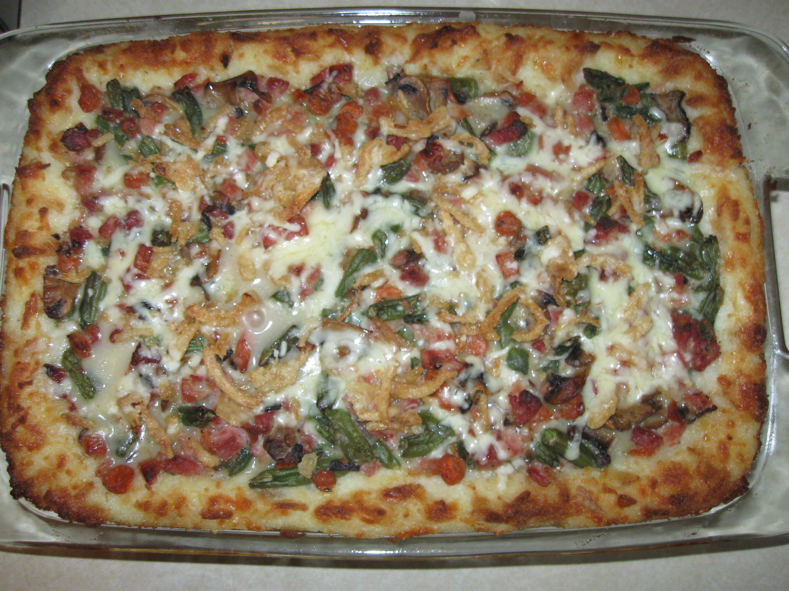 Cheesy Leftover Ham and Mashed Potato Casserole Lisa Kershner