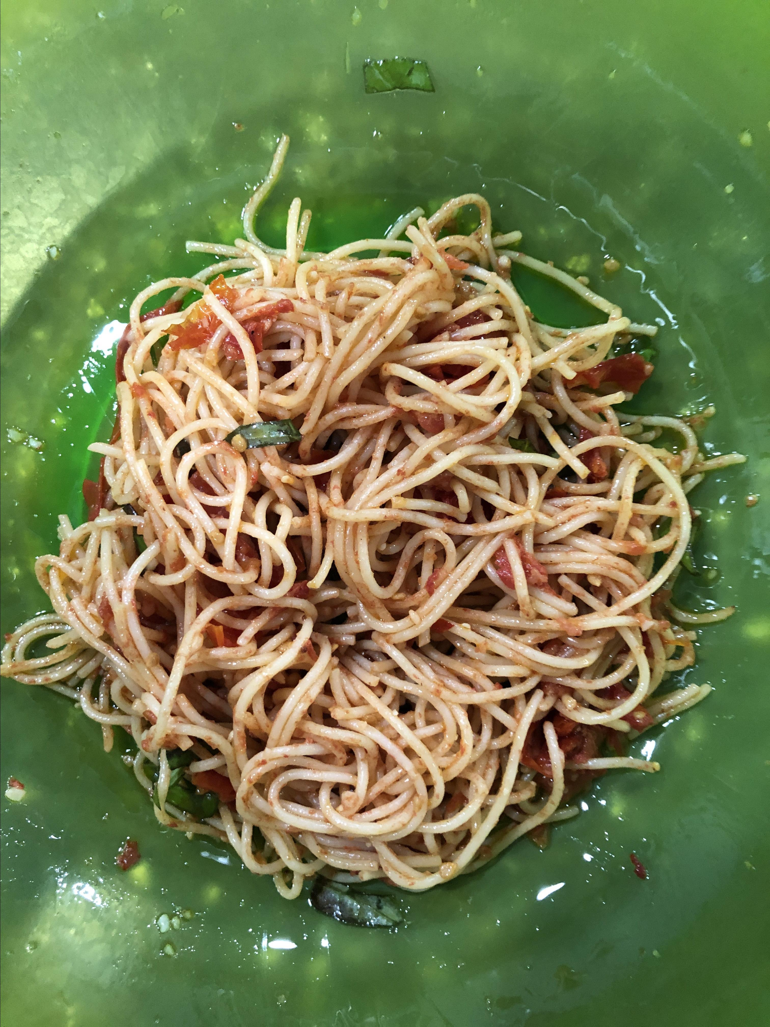 Roasted Cherry Tomatoes with Angel Hair Lynn E