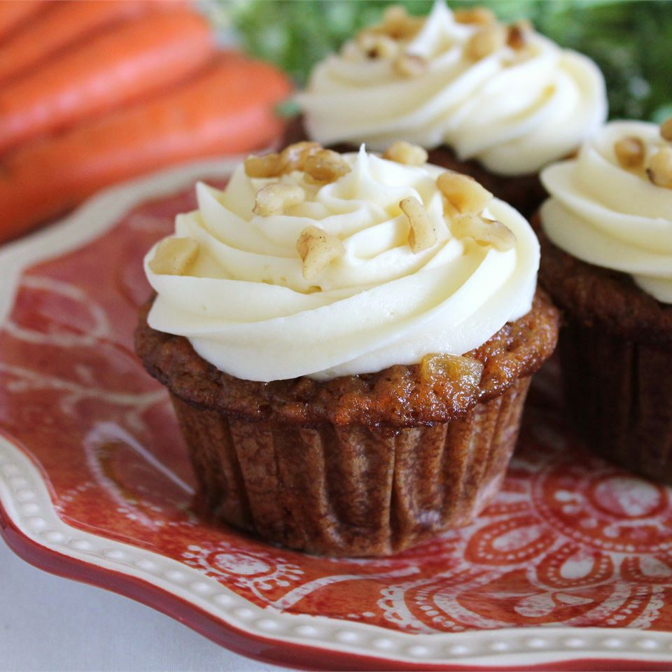 Carrot Cupcakes with White Chocolate Cream Cheese Icing BAKERAMA