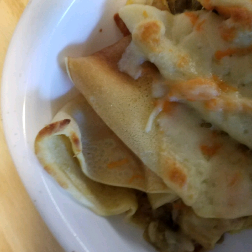Olive and Chicken Curry Crepes blawrence