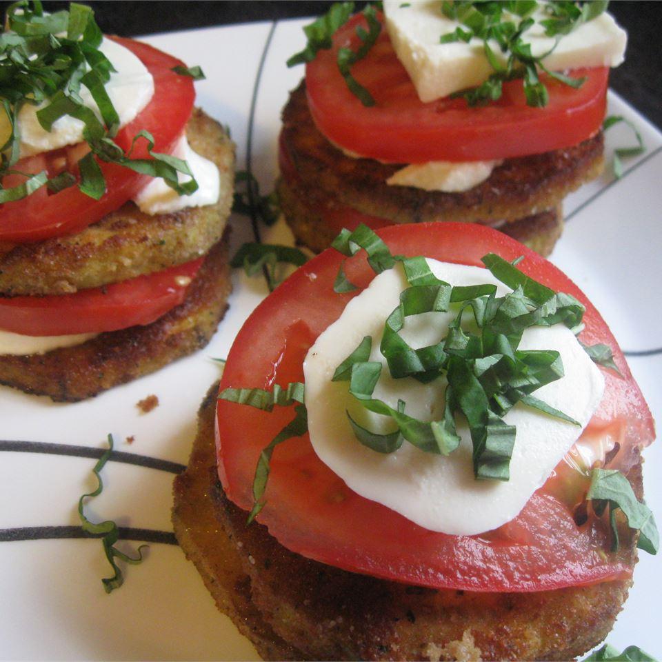 Eggplant Slices, Tomatoes, and Mozzarella