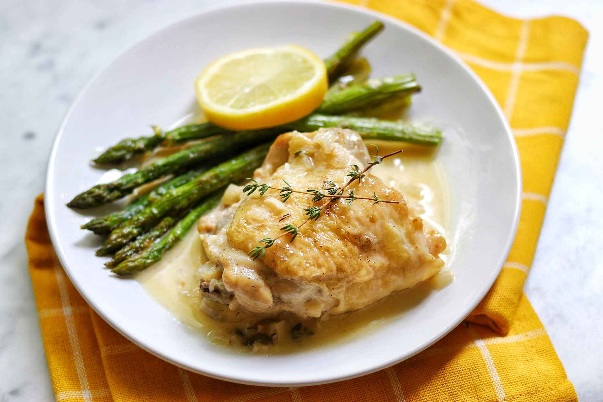 Instant Pot® Keto Chicken Thighs in Lemon-Garlic Cream Sauce