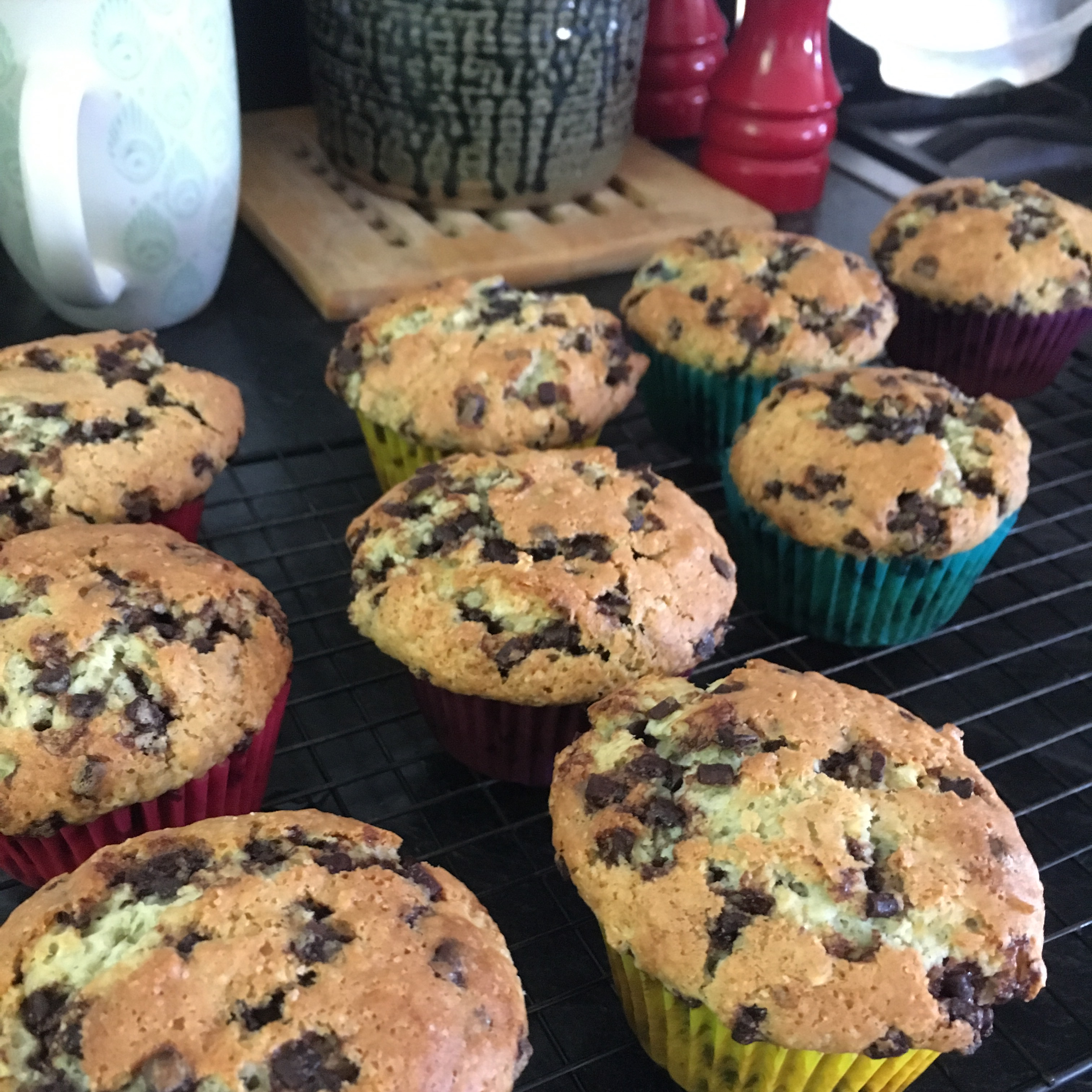 Chocolate Chip and Blueberry Muffins Cara Corpieri