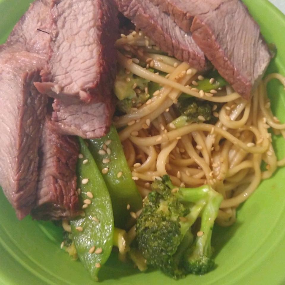 Asian Steak and Noodle Bowl Jamie Lee Zawislak