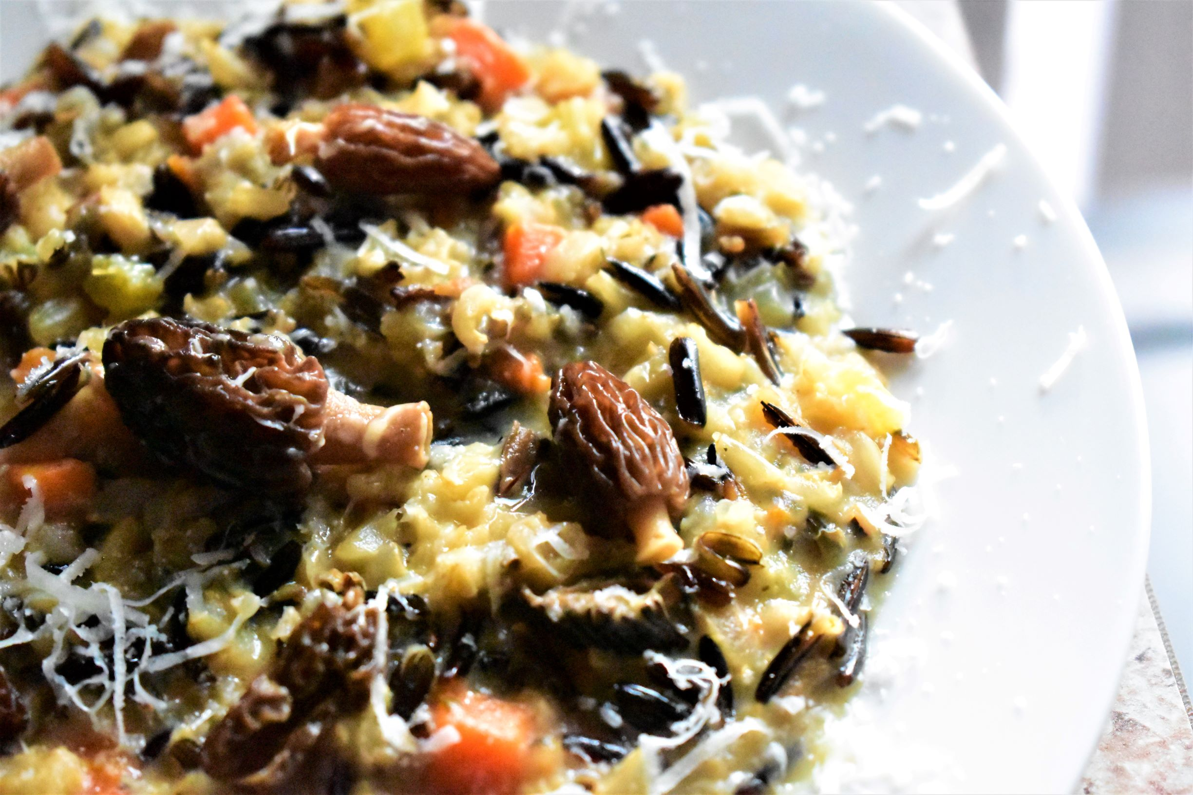 Morel Mushroom and Wild Rice Risotto