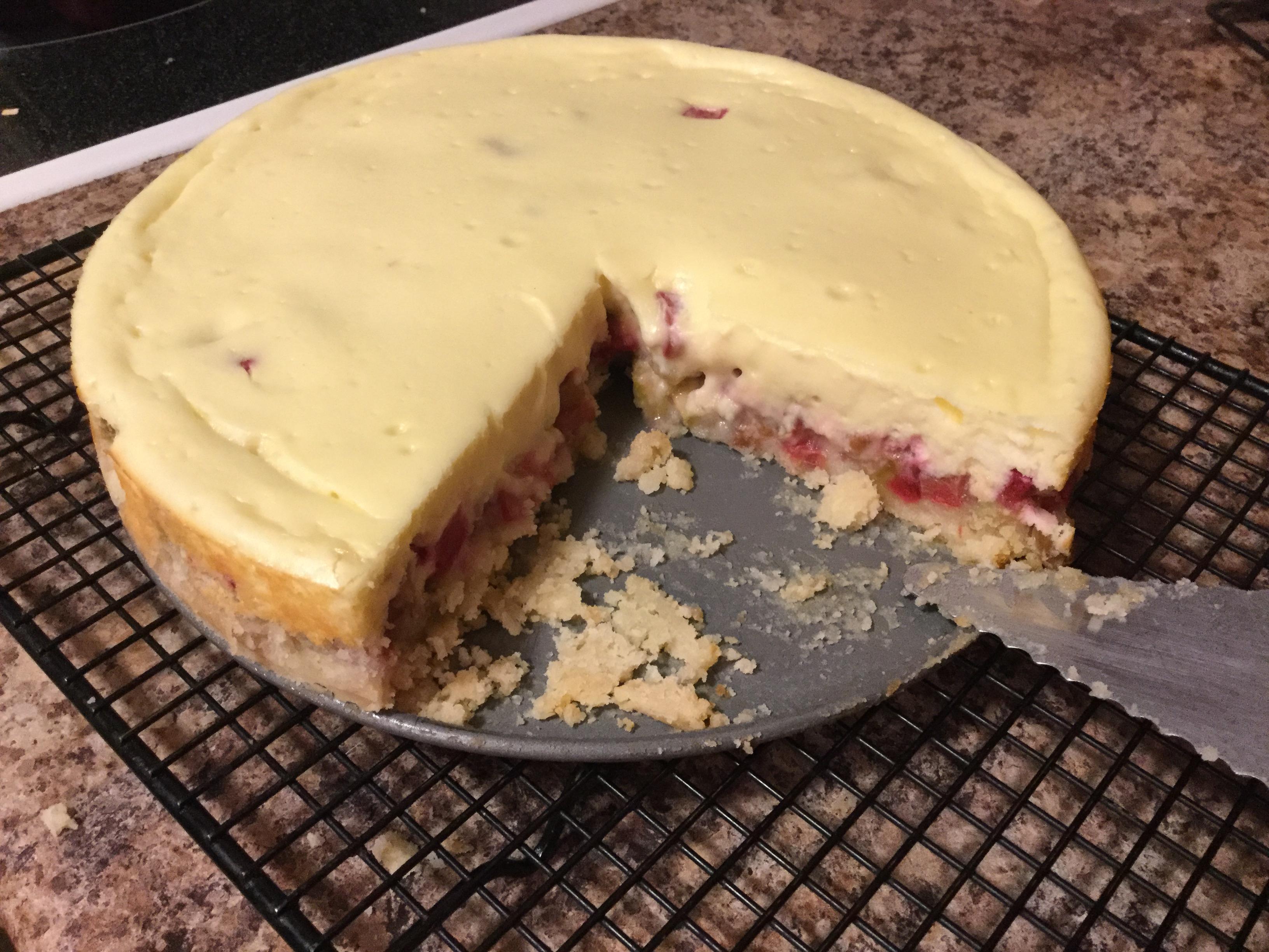 Rhubarb Cheesecake Cindy M