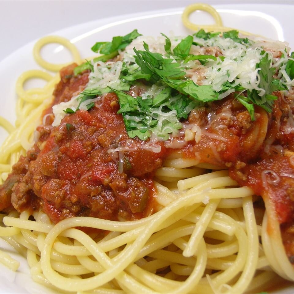 Spaghetti Sauce With Ground Beef Recipe Allrecipes