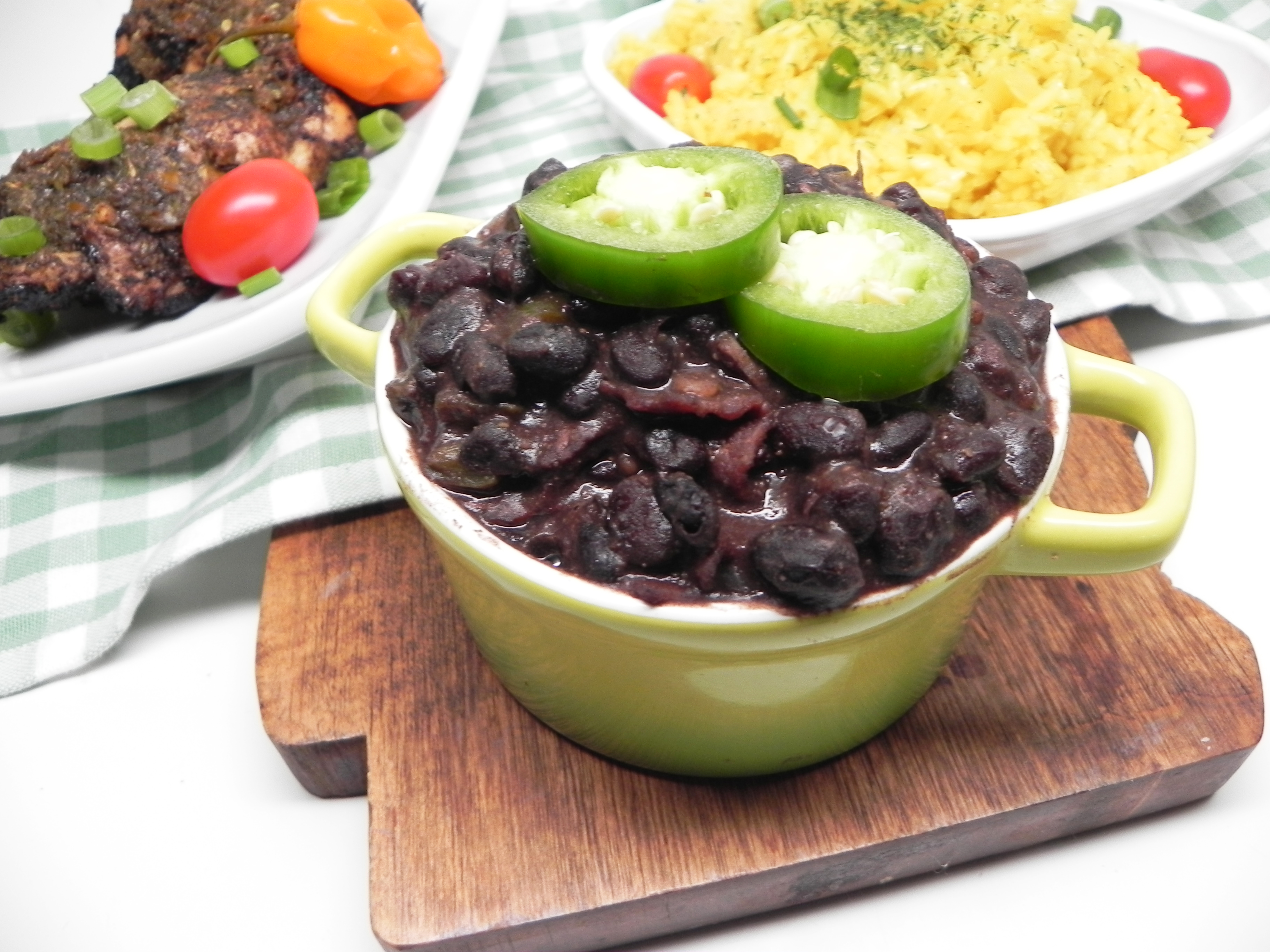 Black Beans with Coconut Water