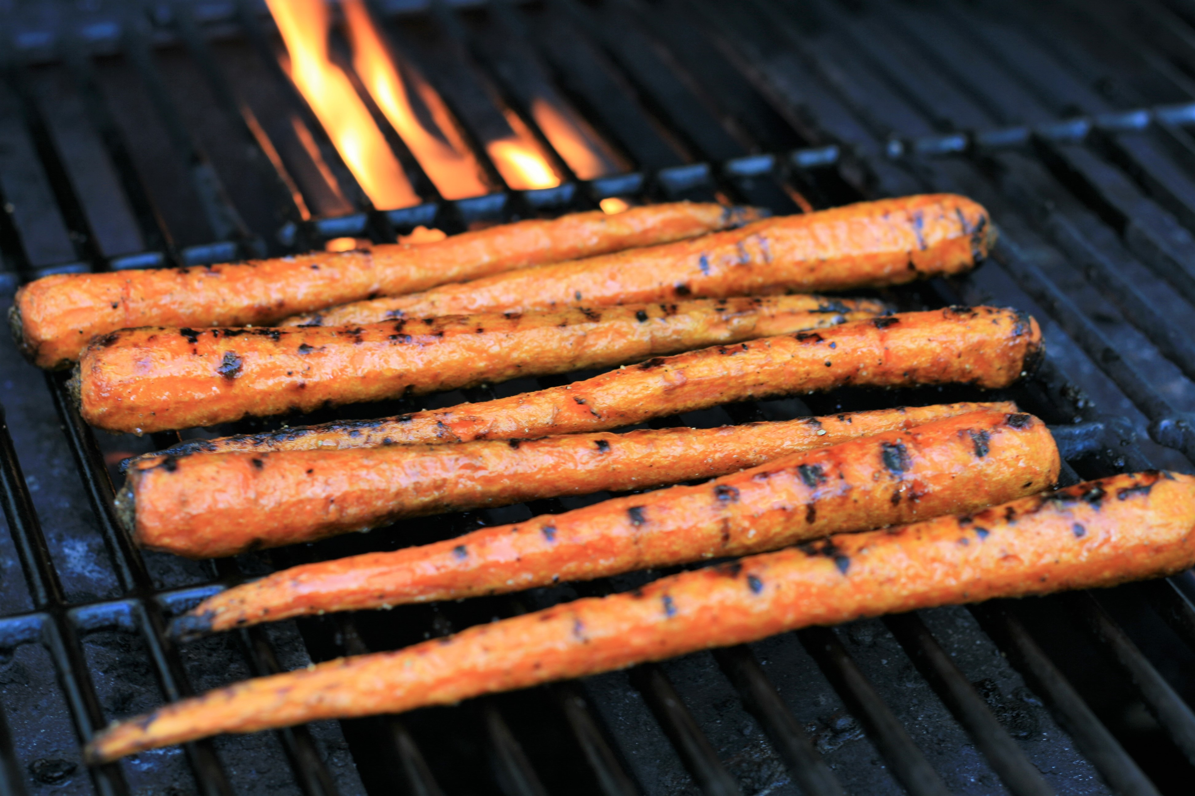 Maple-Glazed Grilled Carrots