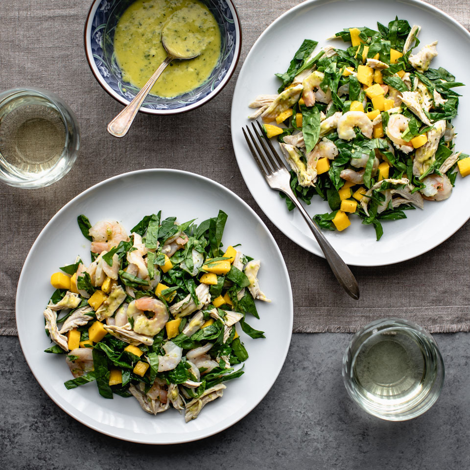 Chicken, Shrimp & Mango Salad EatingWell Test Kitchen