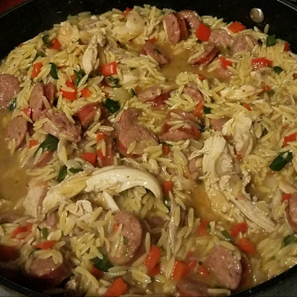 Risotto with Chicken, Sausage, and Peppers Shane Hernandez