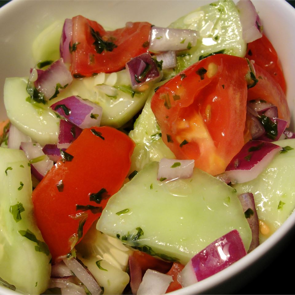 Cucumber, Tomato, and Red Onion Salad Rock_lobster