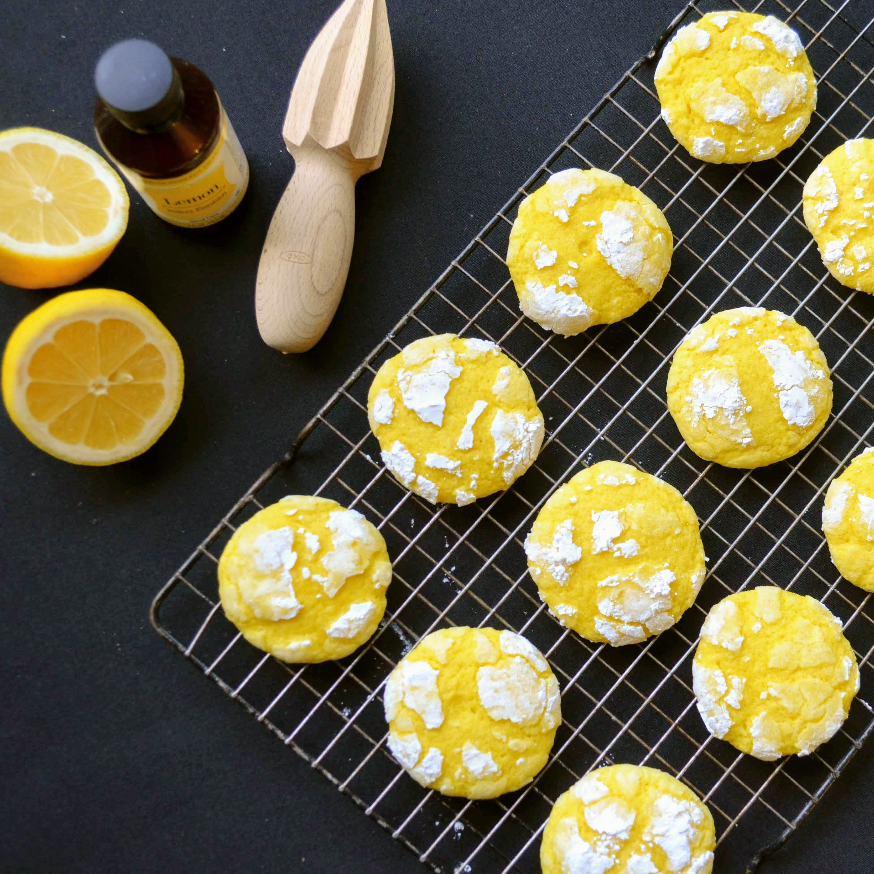 Lemon Crinkle Cookies Kim's Cooking Now