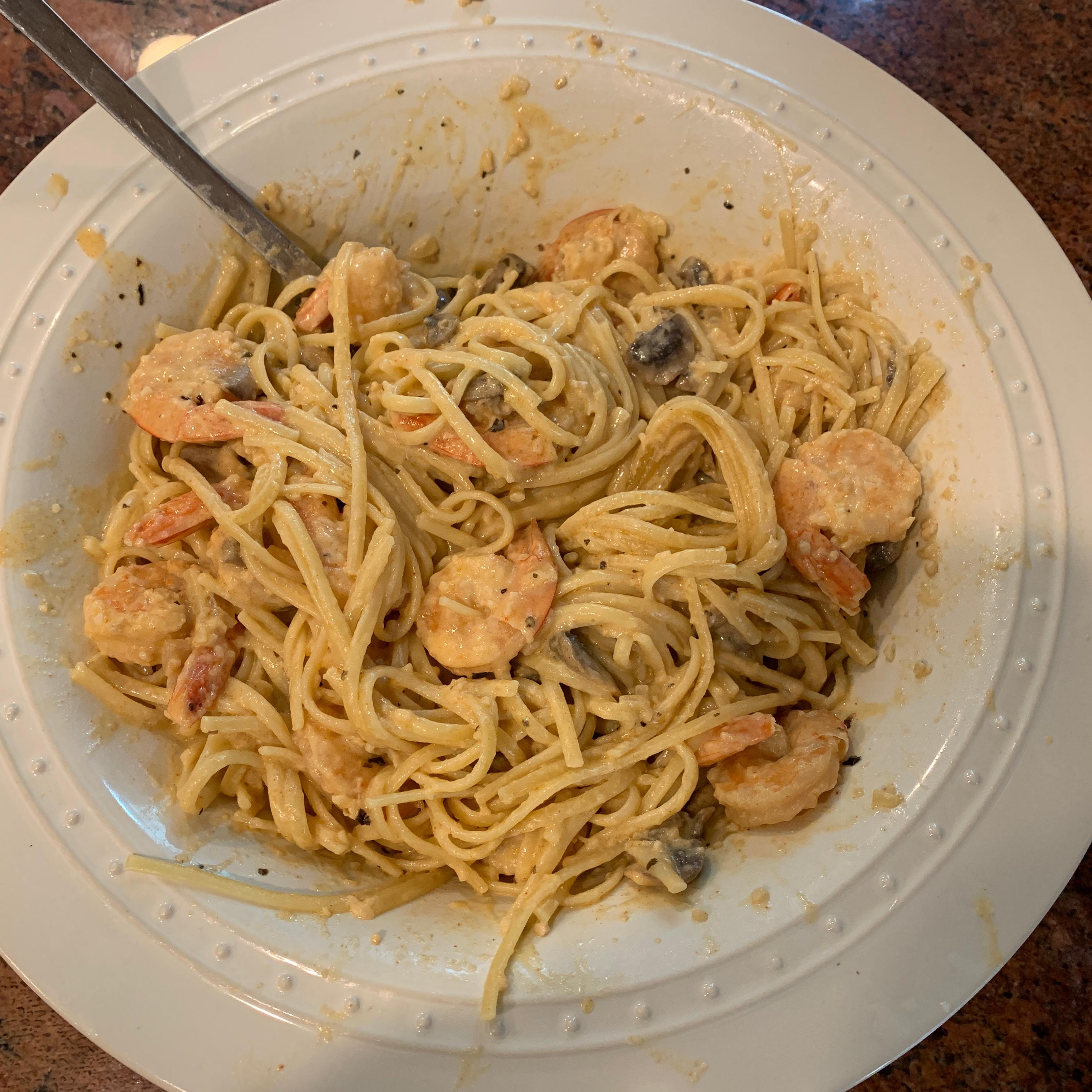 Creamy Shrimp Pasta with Mushrooms JenniPiaz
