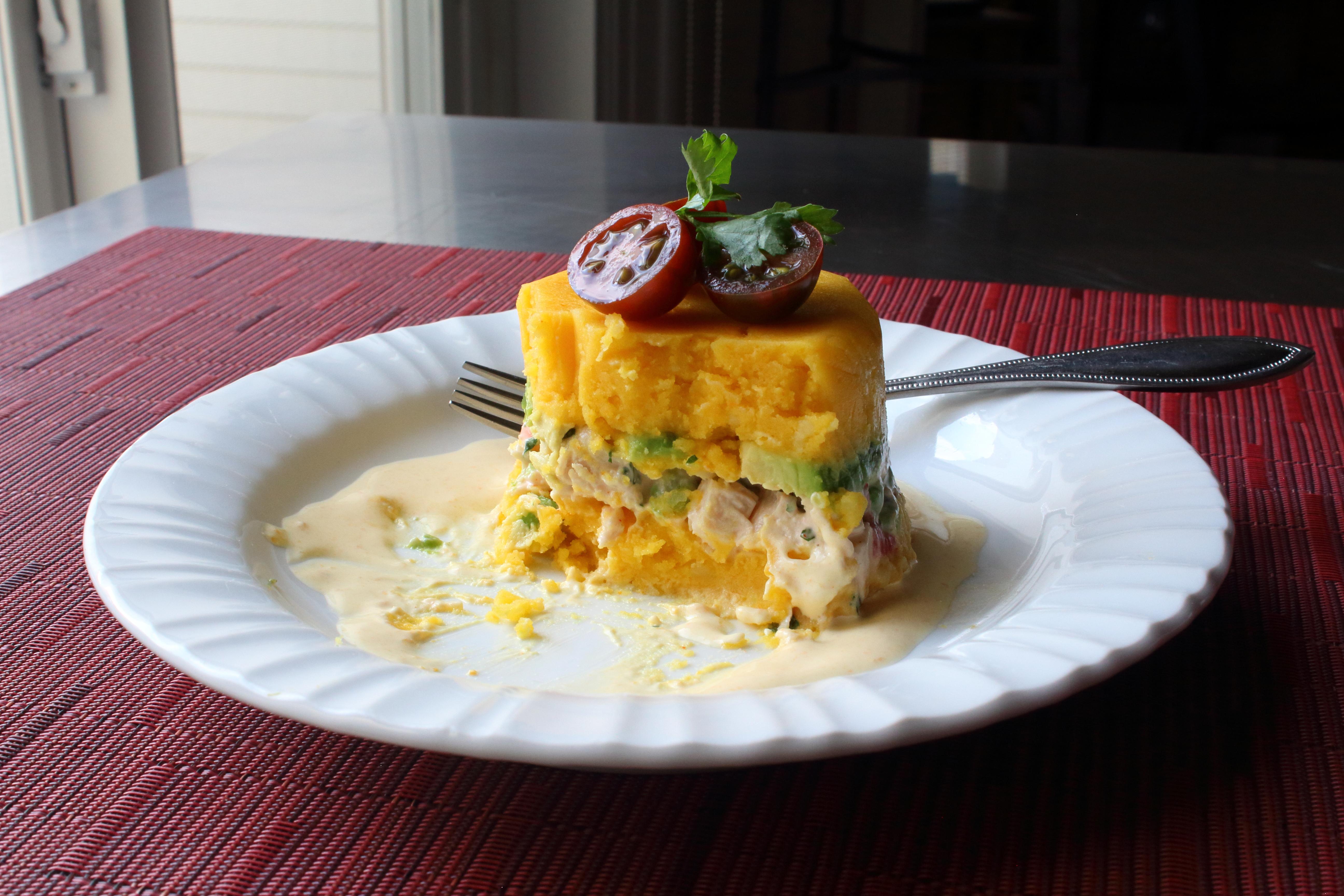 Peruvian Potato-Chicken Salad (Causa Rellena) Chef John
