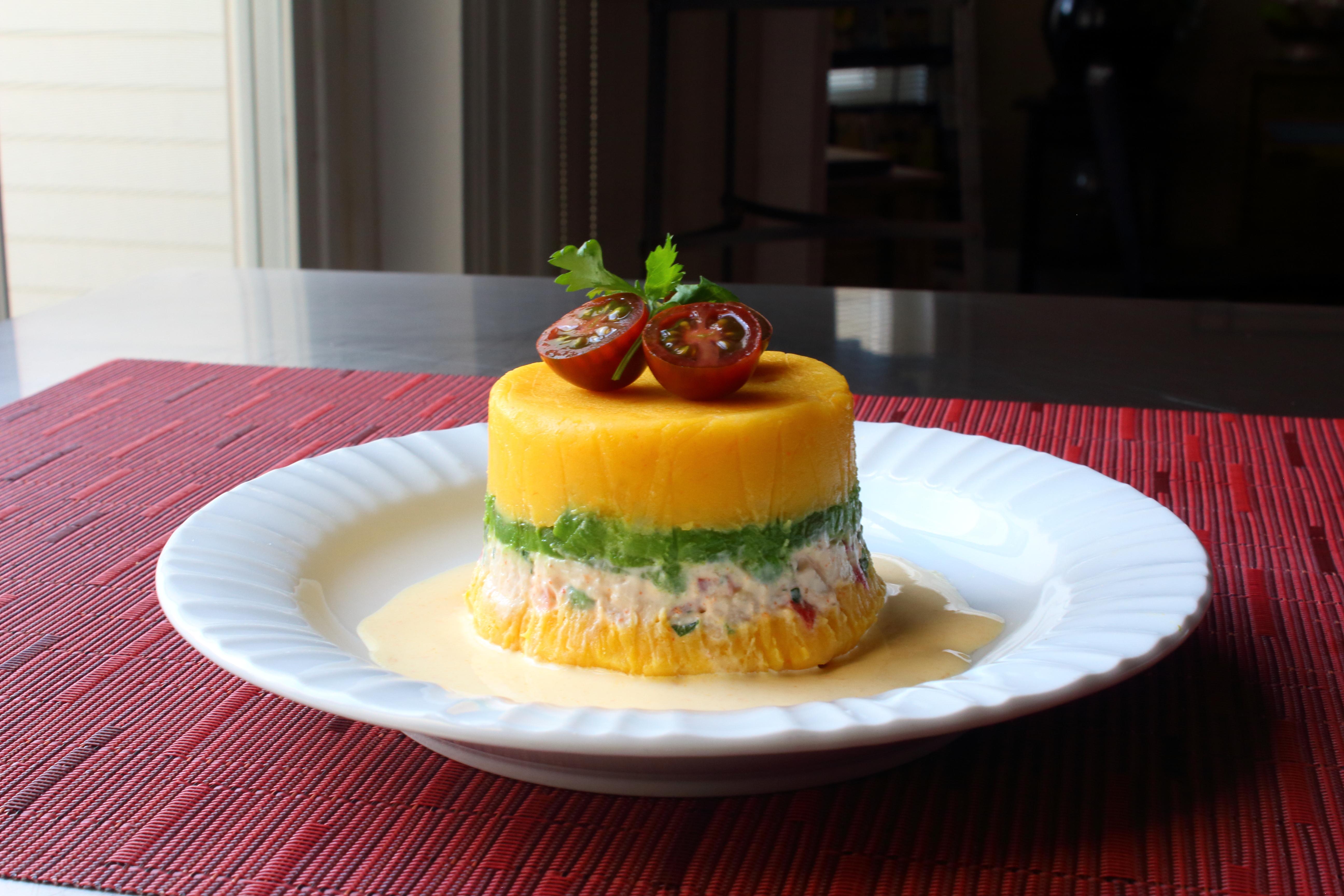 Peruvian Potato-Chicken Salad (Causa Rellena)