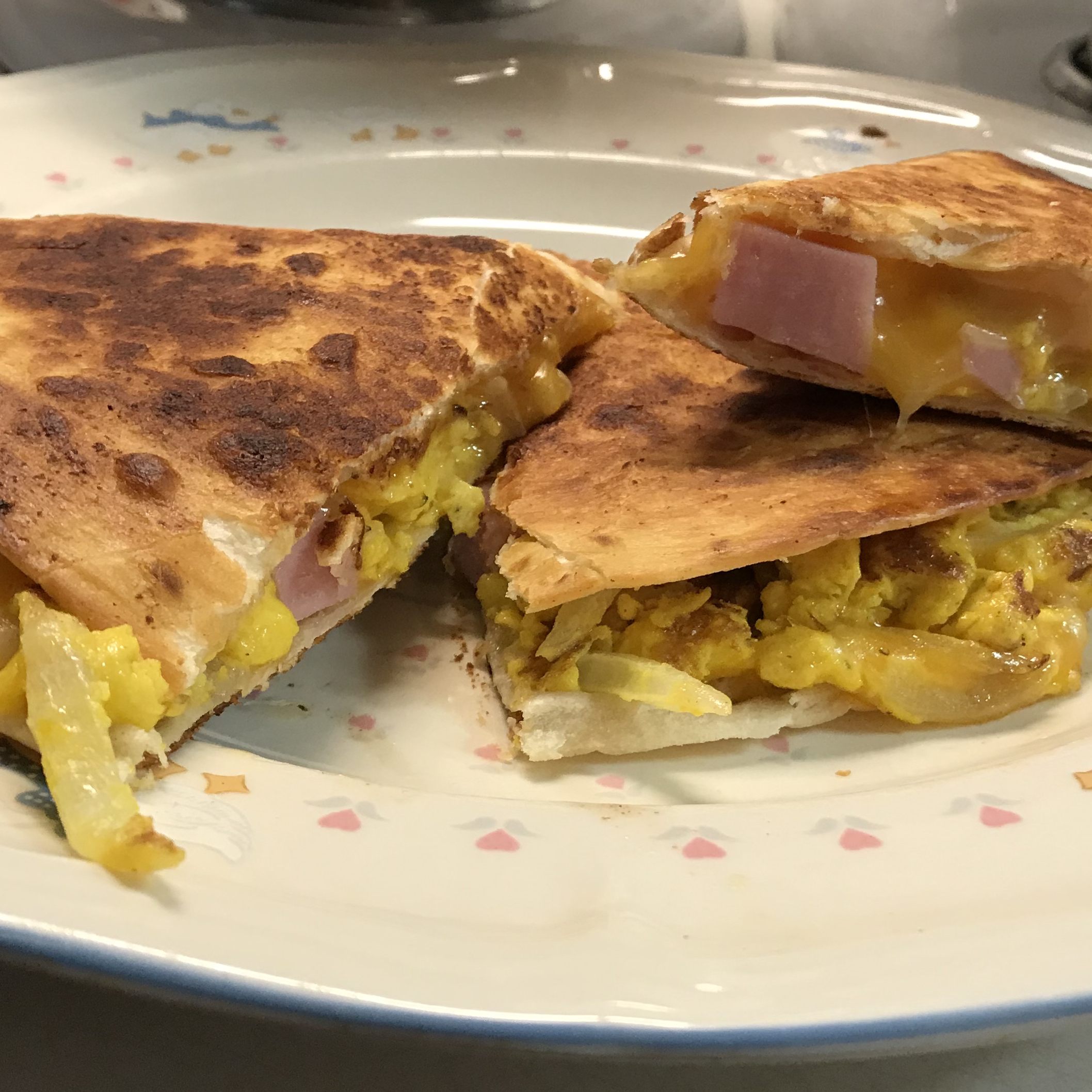 Ham, Egg, and Cheese Quesadillas