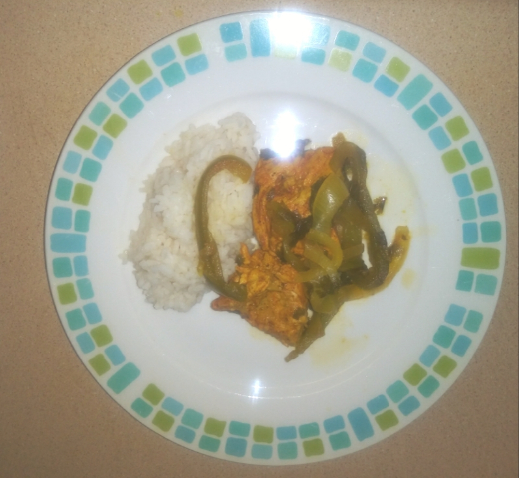 Chicken with Turmeric and Paprika over Rice