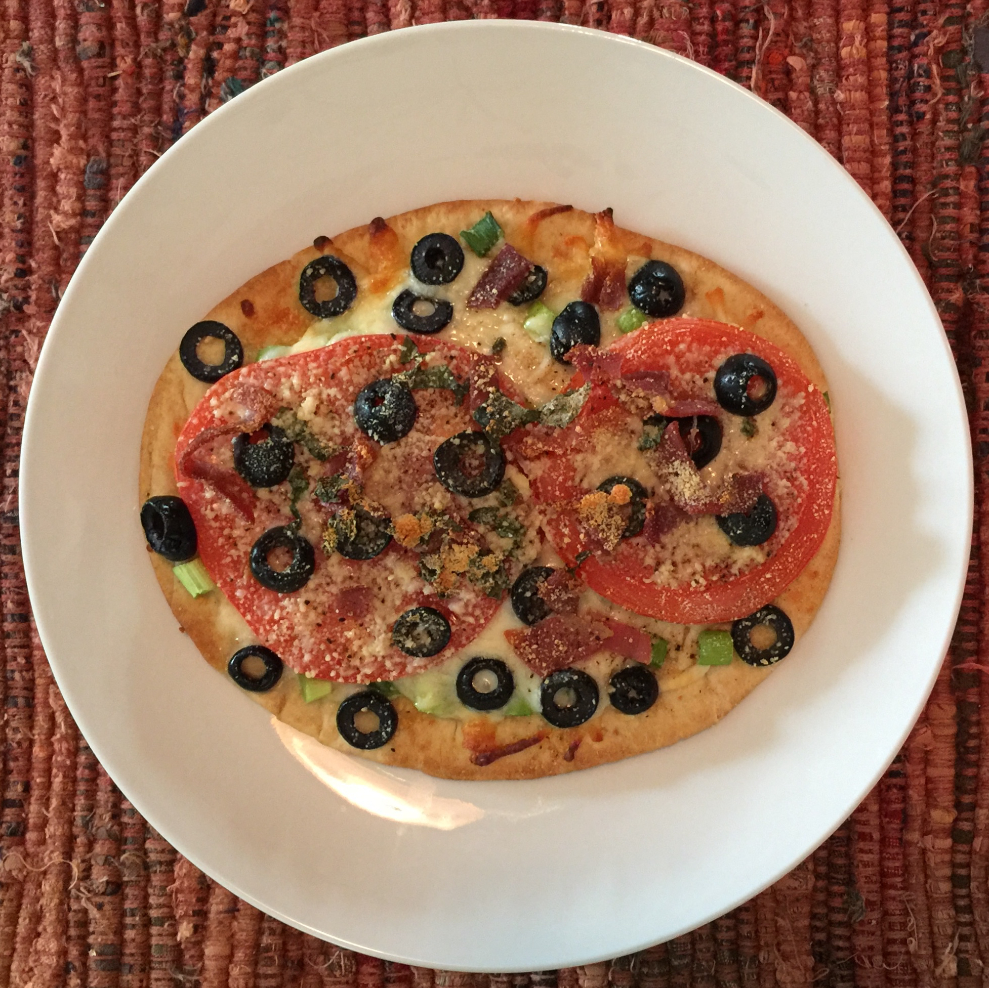 Naan Bread Margherita Pizza with Prosciutto