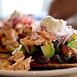 summer salmon tostadas recipe