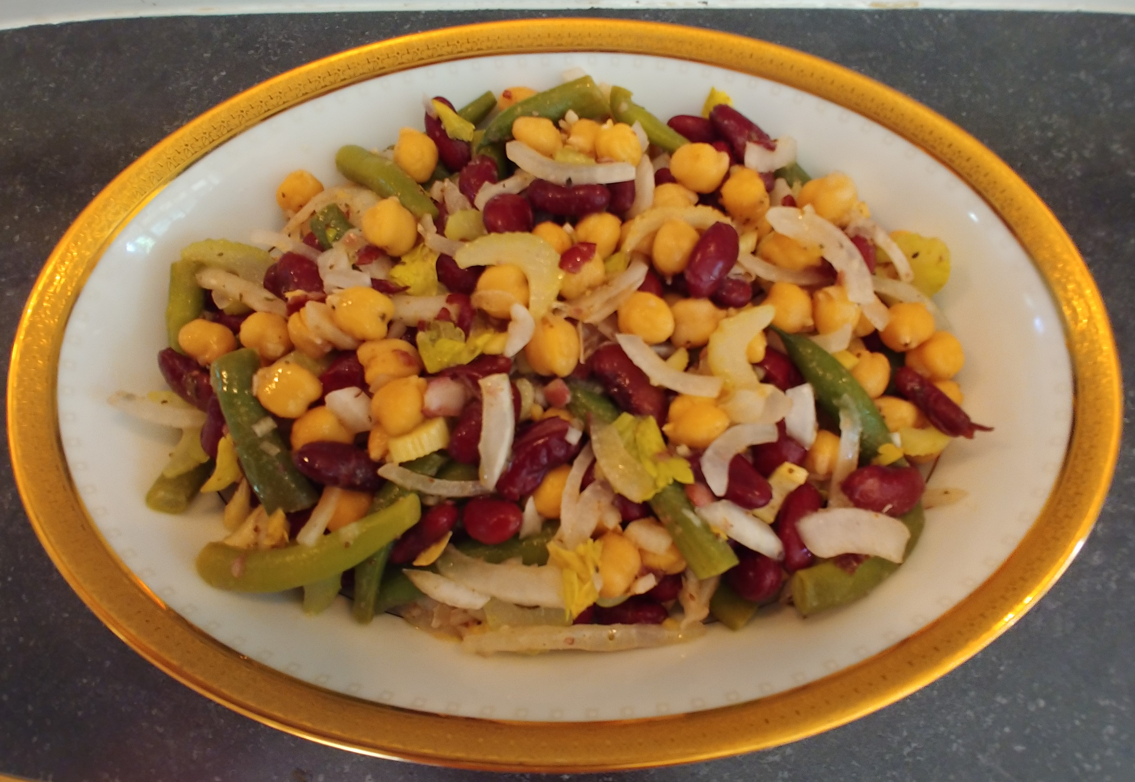 Three Bean Salad With Celery Avery