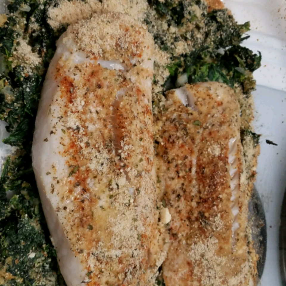 Aunt Carol's Spinach and Fish Bake Trish in Texas
