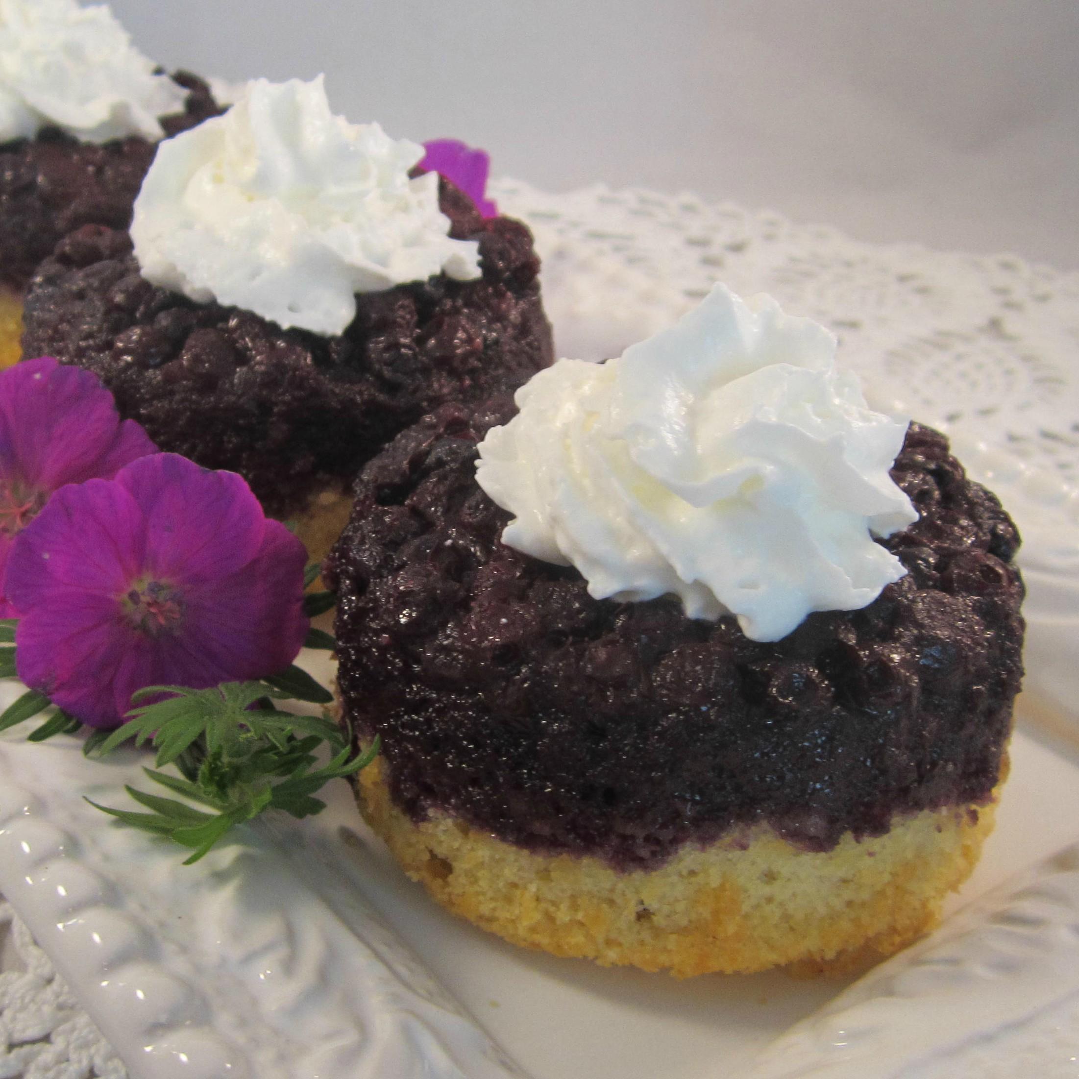 Blueberry Upside-Down Mini Cakes Deb C