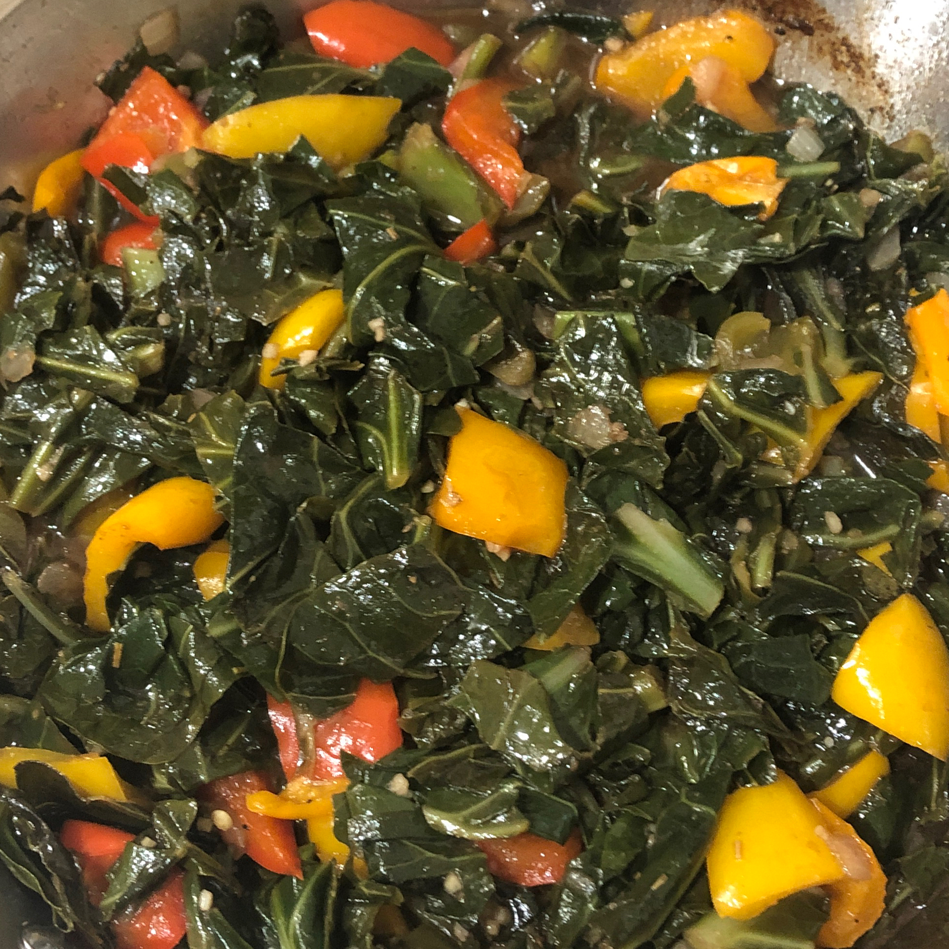 Sweet and Tangy Sauteed Collard Greens Dontae Rockymore