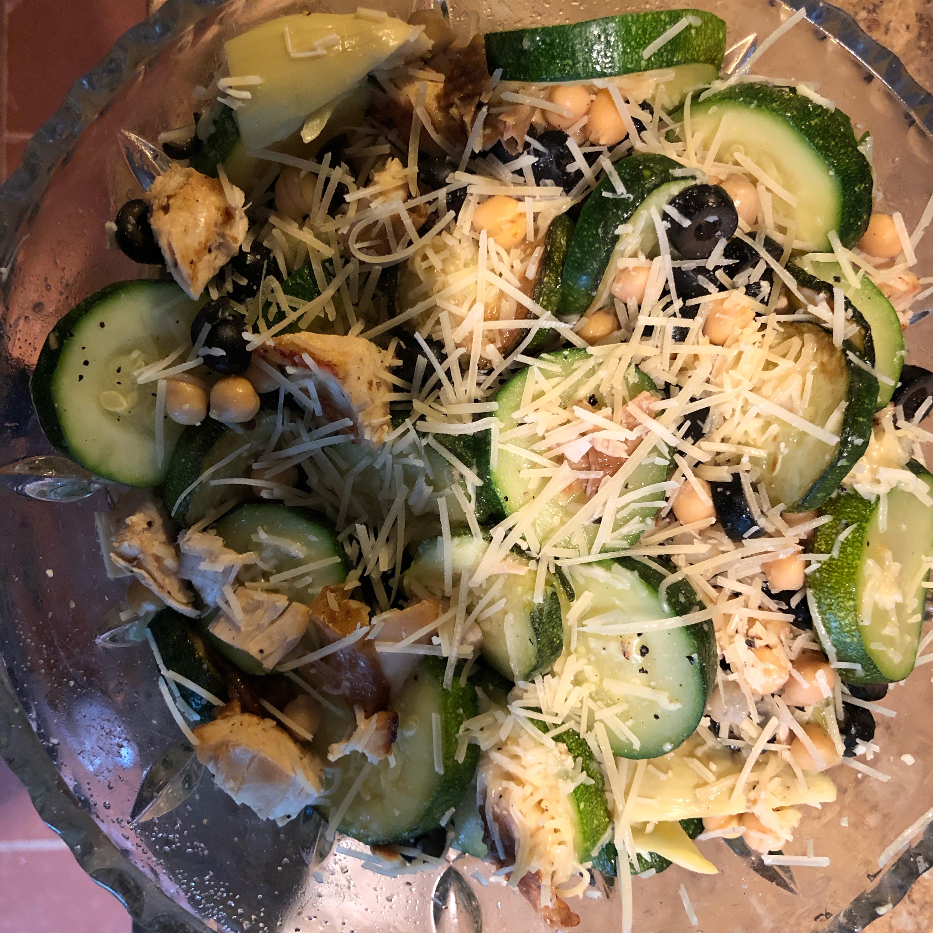 Zucchini Artichoke Summer Salad lizmc2006