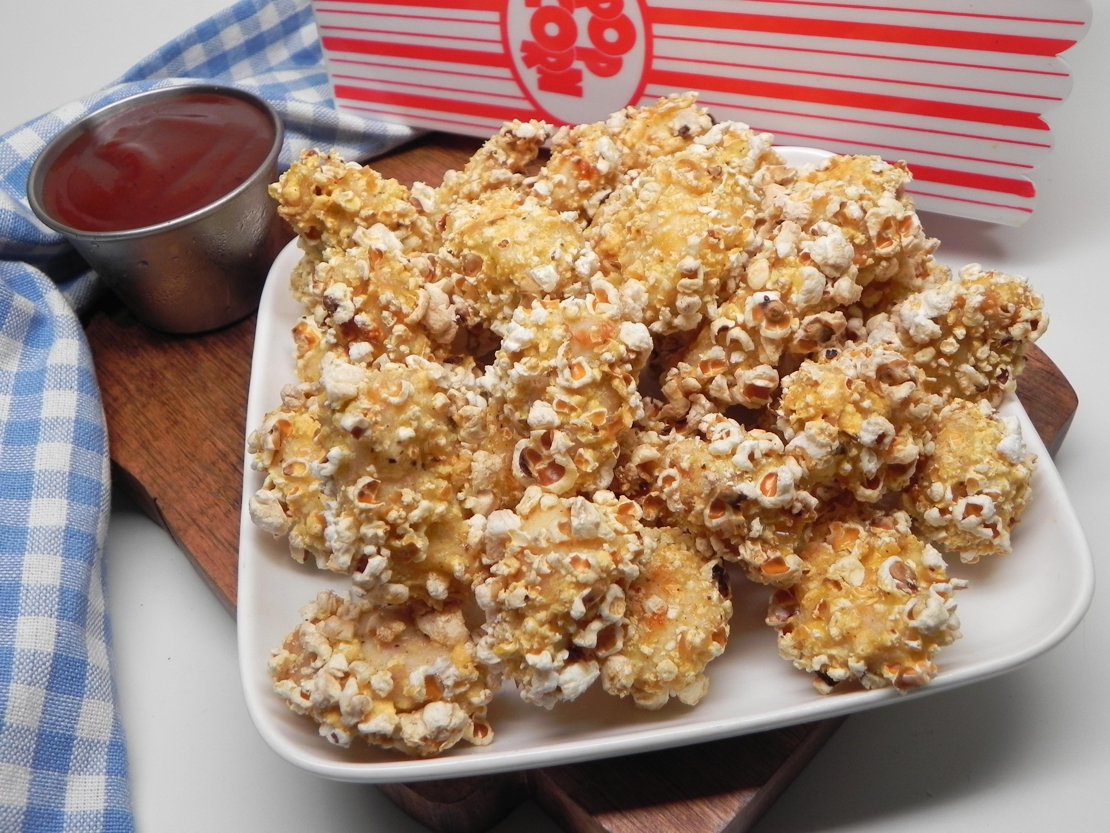 Air Fryer Popcorn-Crusted Popcorn Chicken
