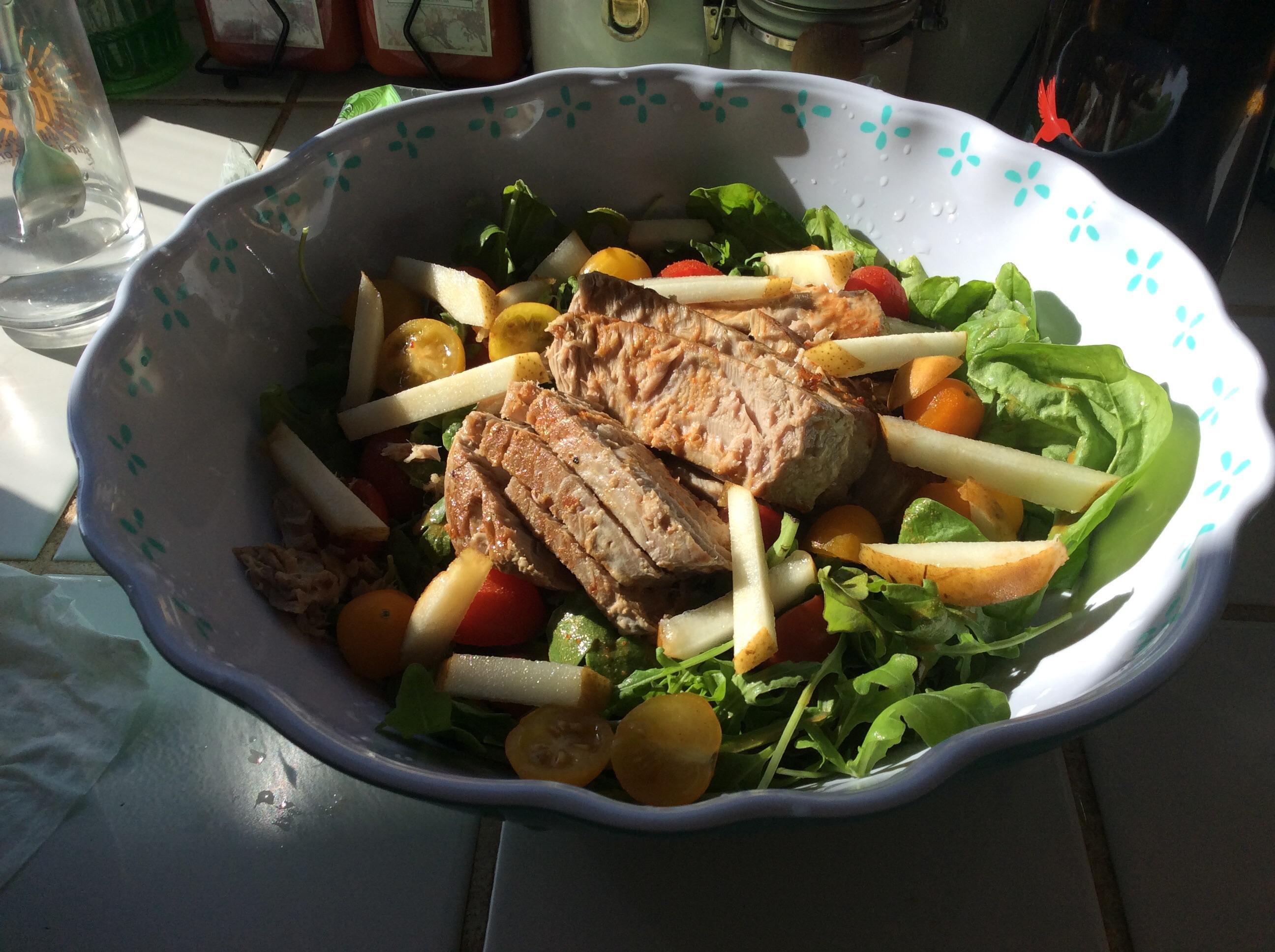 Seared Ahi Tuna with Watercress, Chile, and Ginger Salad