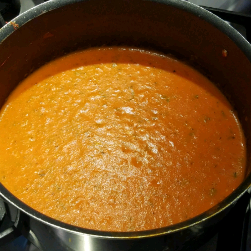 Classic Dairy-Free Cream of Tomato and Basil Soup Kim Sharp-Szymanski Vigneau