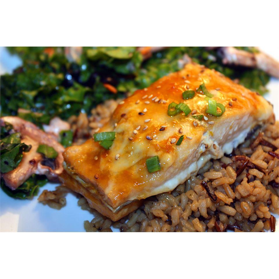 Grilled Salmon With Orange Glaze smalltowndiverwife