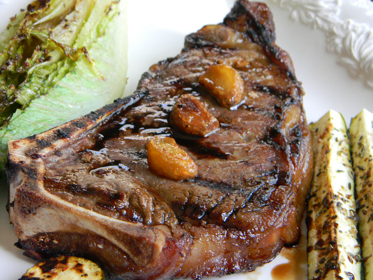 Garlic Steak with Garlic